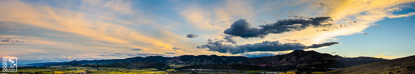 Mt. Morrison Sunset Panorama - Sunset Image from Pono Images