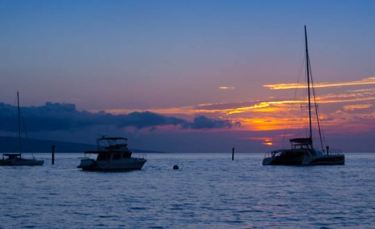 Last Light on Hula Girl - Mala Wharf