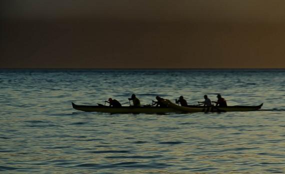 Sunset Outrigger, Ka'anapali Beach, Maui, Hawai'I | Pono Images
