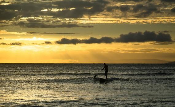 Paddleboard at sunset - Maui, HI | Pono Images