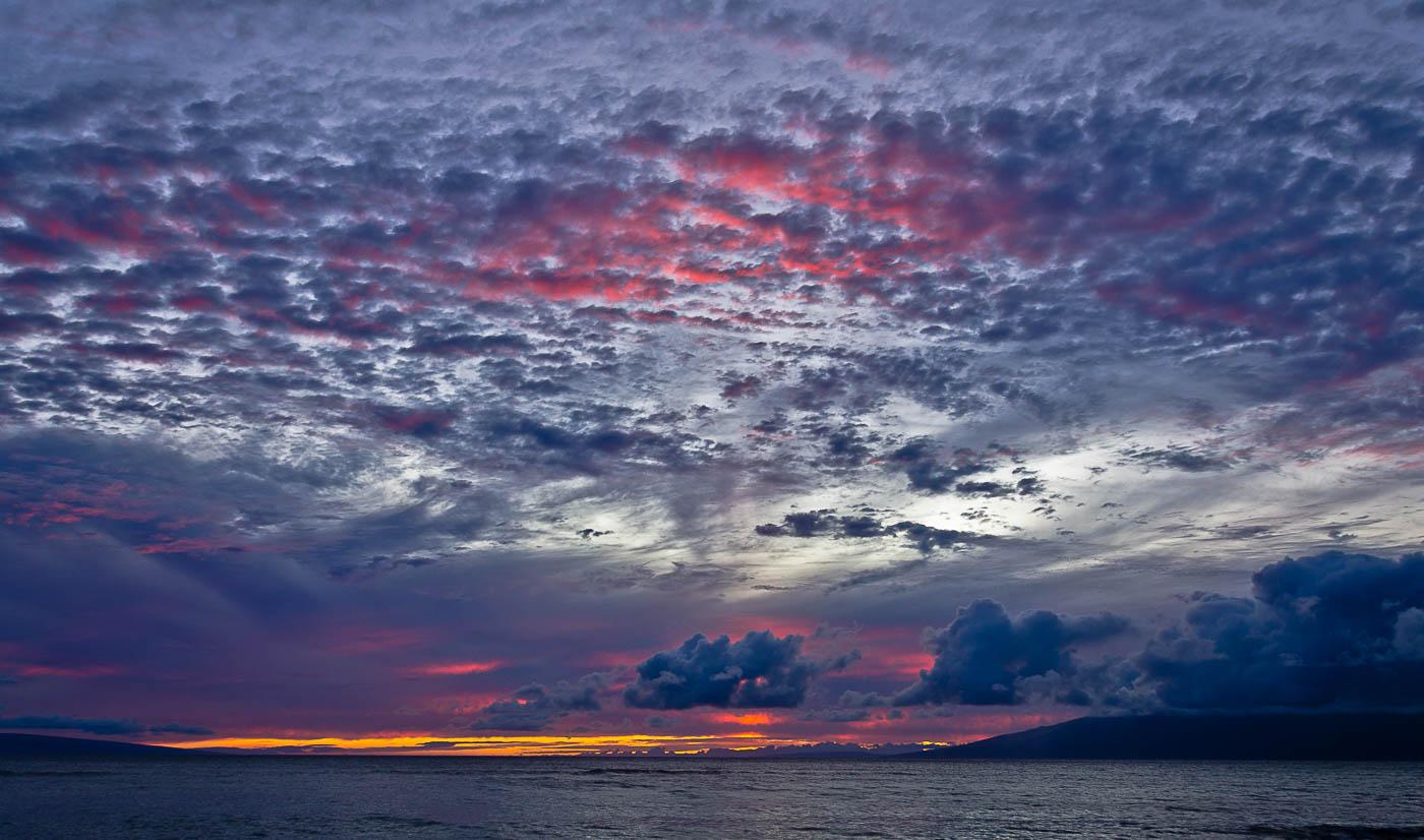 Pink Clouds, Mahinahina Pt, Maui, HI | Pono Images
