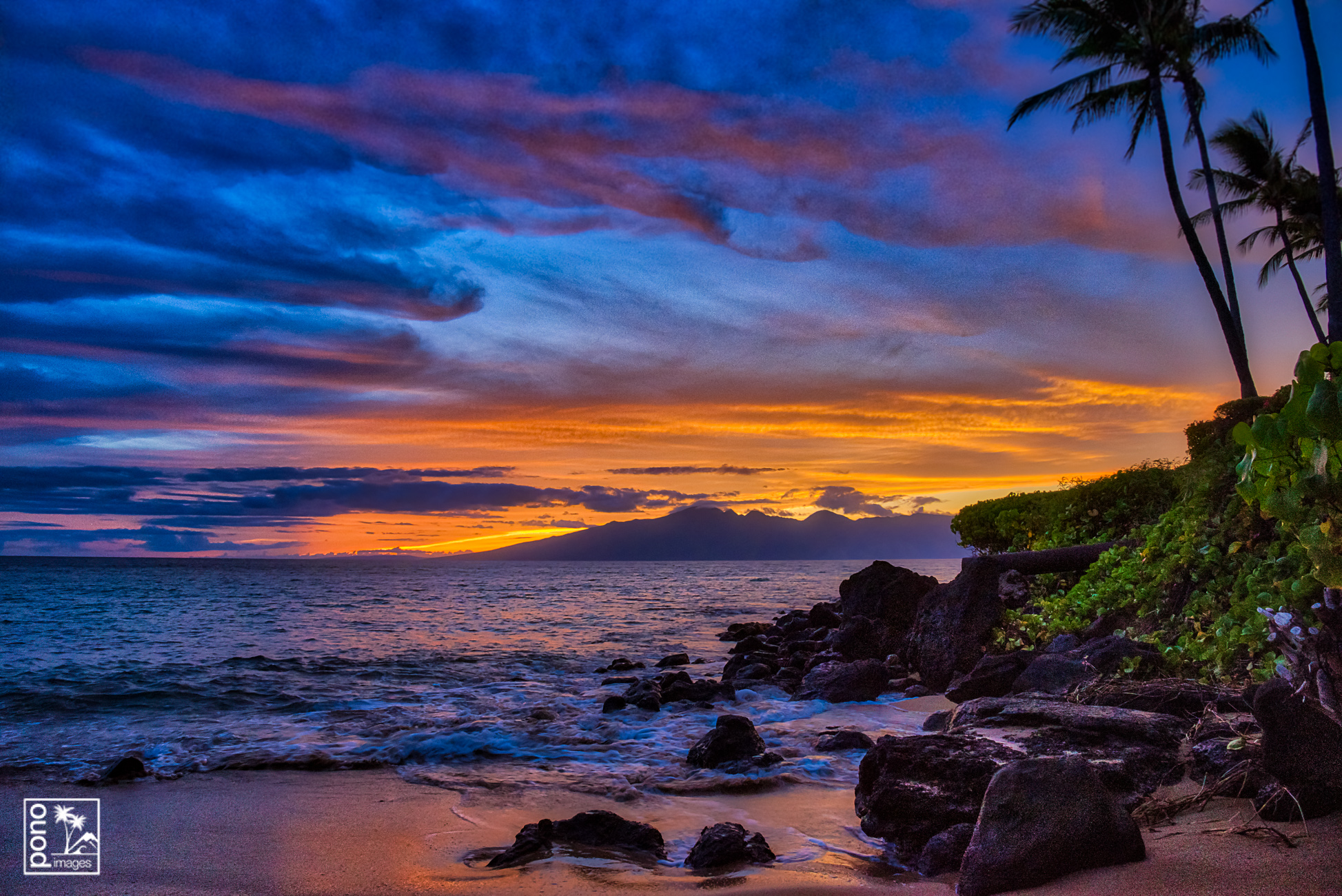 West Maui Sunset Glow by Pono Images