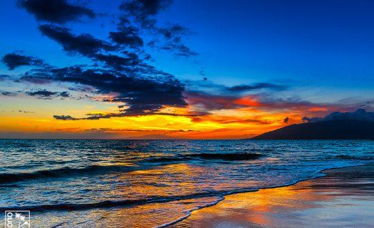 Kamaole II Beach Park Sunset by Pono Images