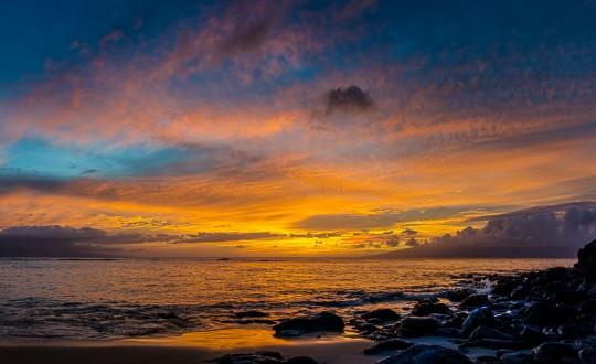 Panoramic Maui Sunset