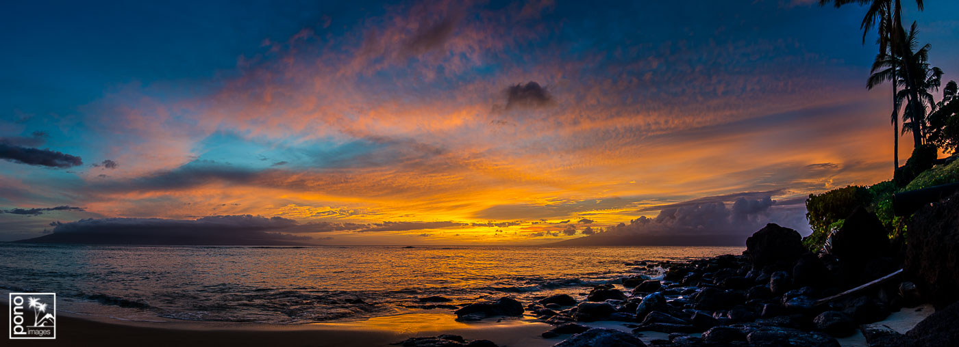 Panoramic Maui Sunset