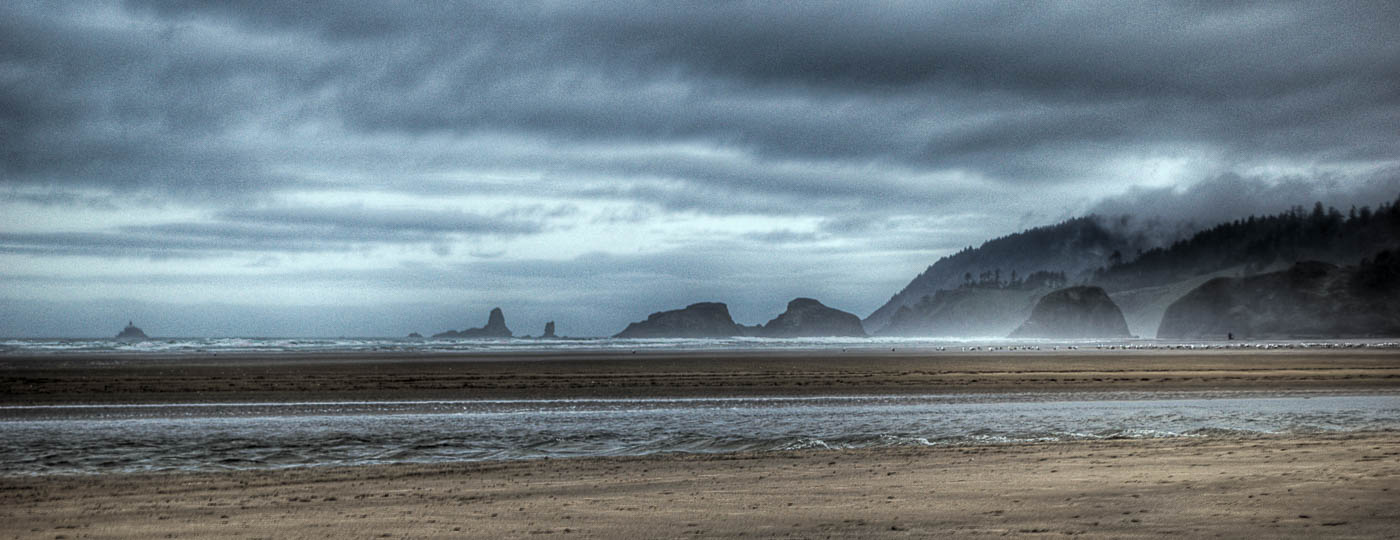 Dark Clouds - Cannon Beach, Oregon | Pono Images