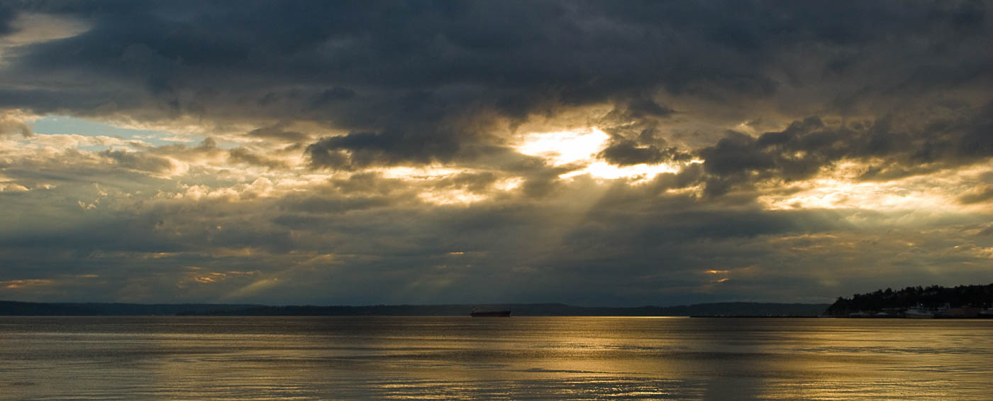 Sunset over Puget Sound   Pono Images