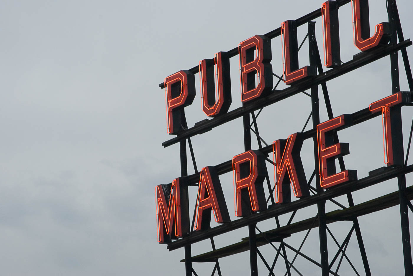 Pike Place Sign, Seattle   Pono Images