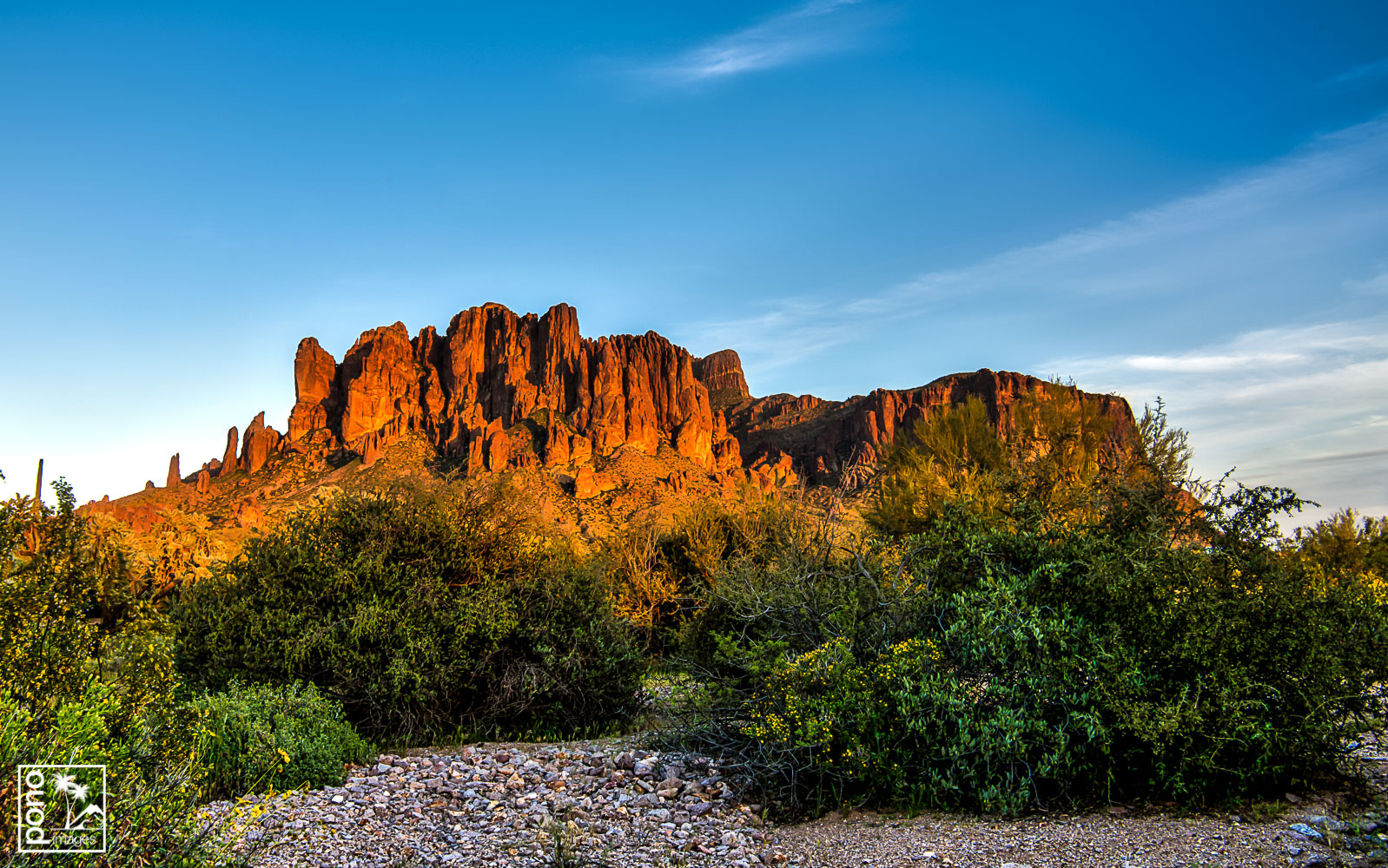 Superstition Mountains at Sunset - Lost Dutchman State Park