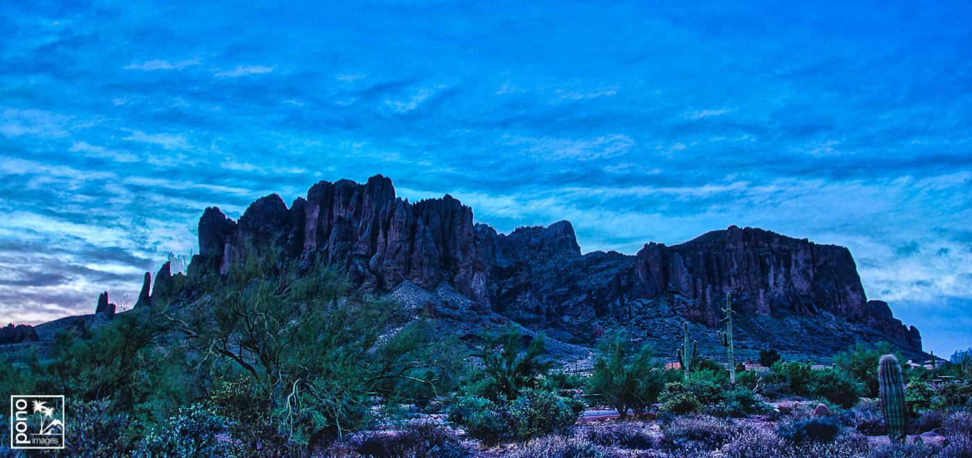 Purple Dawn - Superstition Mountains
