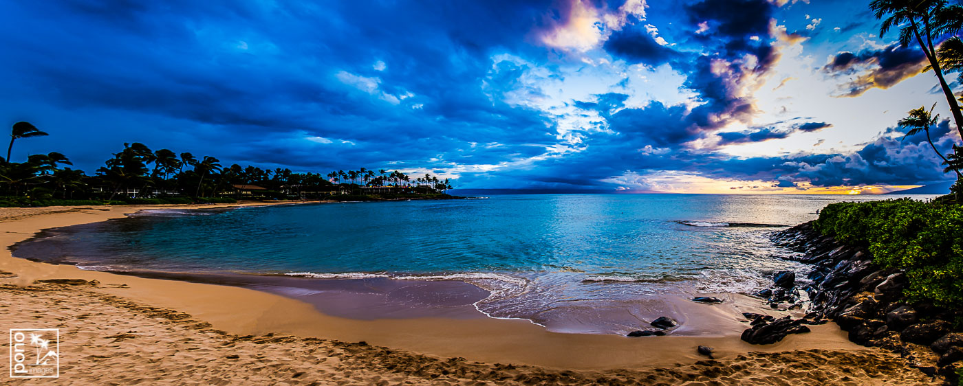 Napili Bay Sunset Panorama
