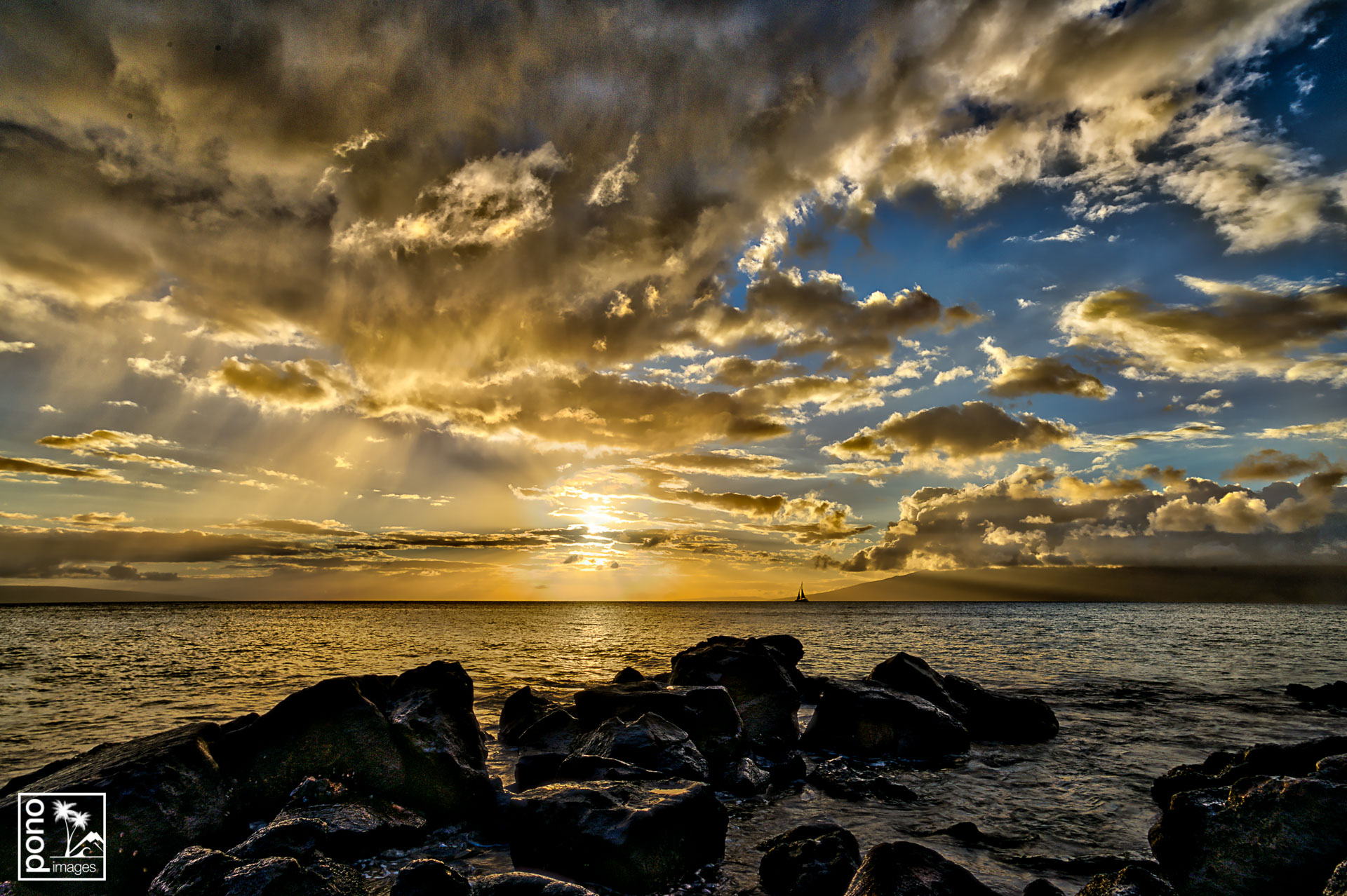 """""""Sunset Misty Clouds"""" by Pono Images"""