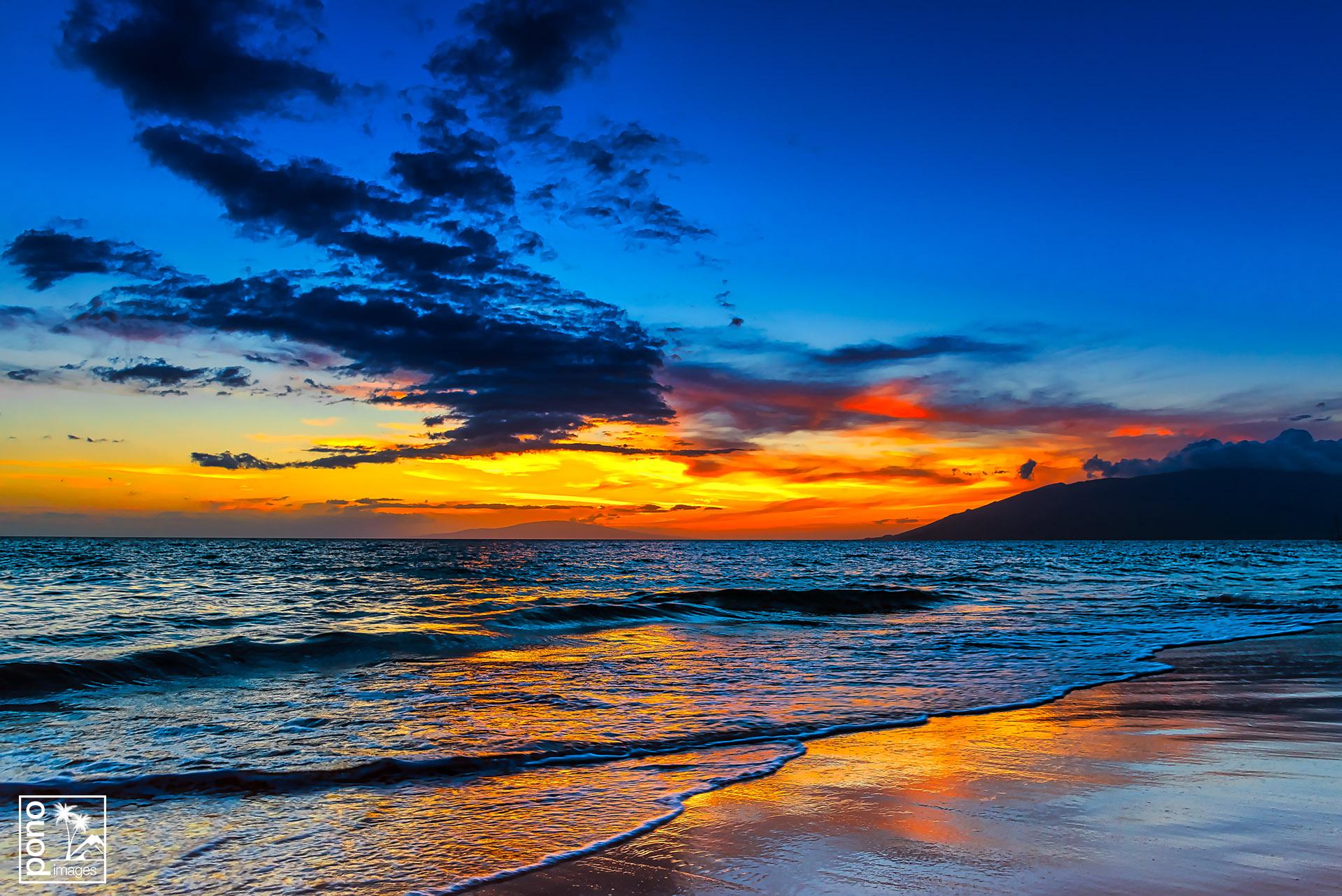 """""""Kamaole III Beach Park Sunset"""" by Pono Images"""