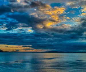 Sunset clouds, Puget Sound, Seattle | Pono Images
