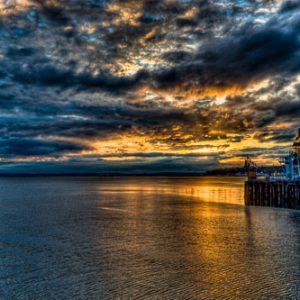Sunset, Port of Seattle, Seattle Washington | Photography by Pono Images