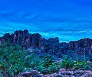Purple Dawn - Superstition Mountains by Pono Images