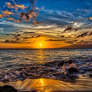 Burning Glow - Sunset from West Maui