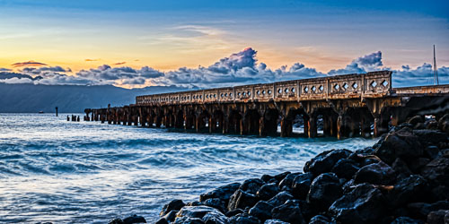 Mala Wharf Sunset Surf | Photography by Pono Images