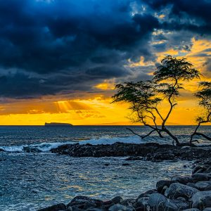 Makena Sunset - Hawai'i Photography by Pono Imges